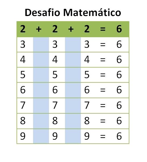 Resultado de imagem para desafios matemáticos 1º ano
